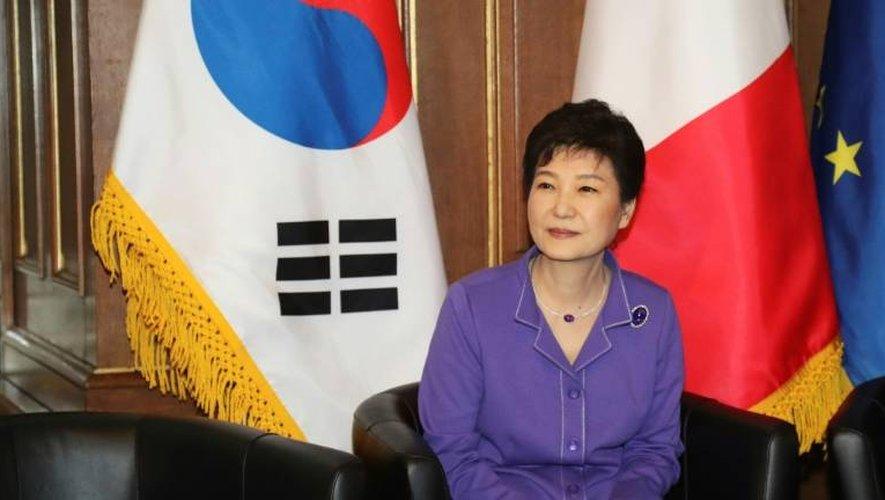 L'ex-présidente de Corée du Sud Park Geun-Hye, lors d'une visite à Paris, le 2 juin 2016