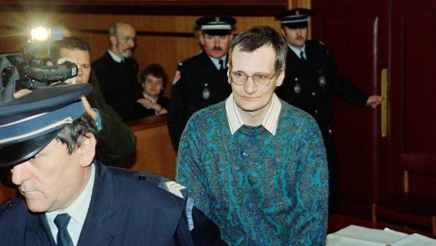 Le tueur en série Francis Heaulme le 27 janvier 1994 à la cour d'assises de Quimper