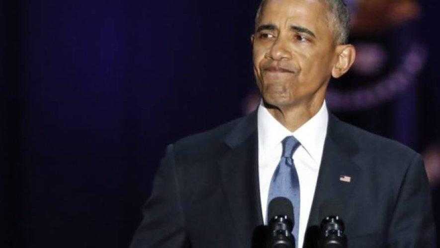 Barack Obama ému aux larmes pour faire ses adieux aux Américains