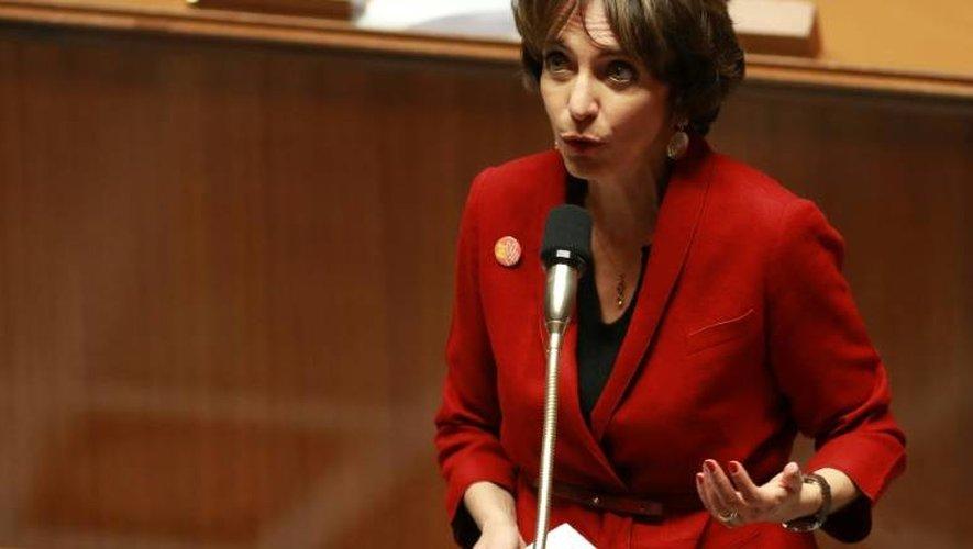 La ministre de la Santé Marisol Touraine lors des questions au gouvernement le 16 novembre 2016 à l'Assemblée nationale à Paris