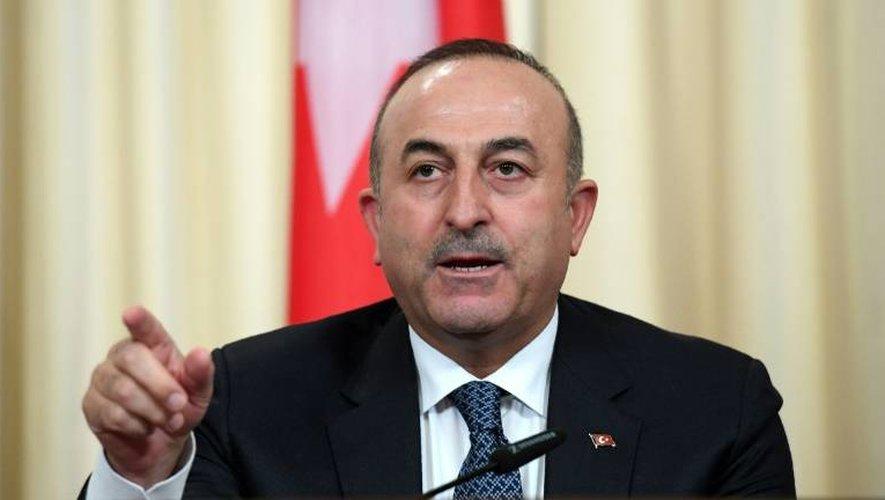 Le ministre turc des Affaires étrangères Mevlüt Cavusoglu, lors d'une conférence de presse à Moscou, le 20 décembre 2016