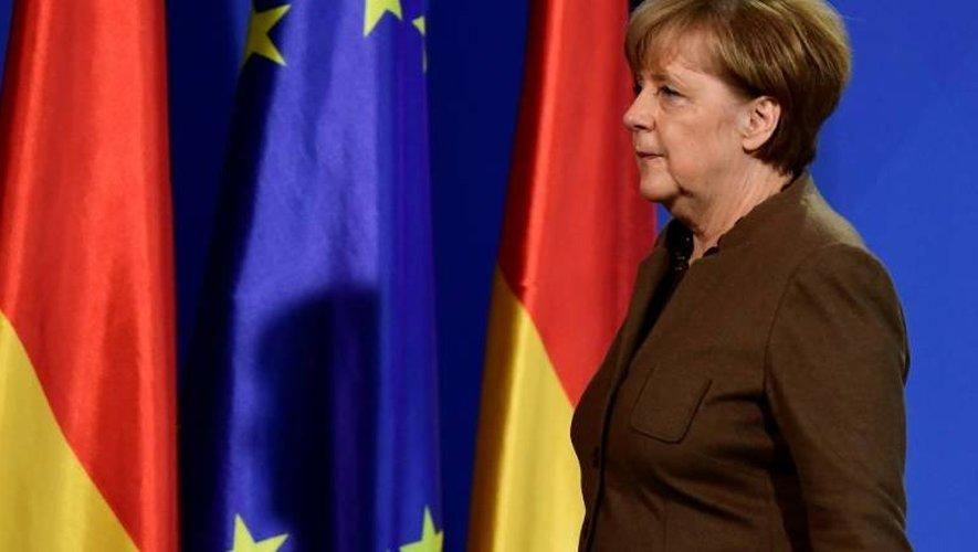 La chancelière Angela Merkel le 23 décembre 2016 à Berlin