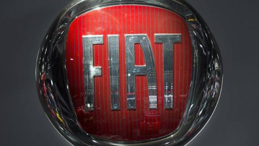Le logo de Fiat, le 10 janvier 2017 au salon international de l'automobile de Detroit.