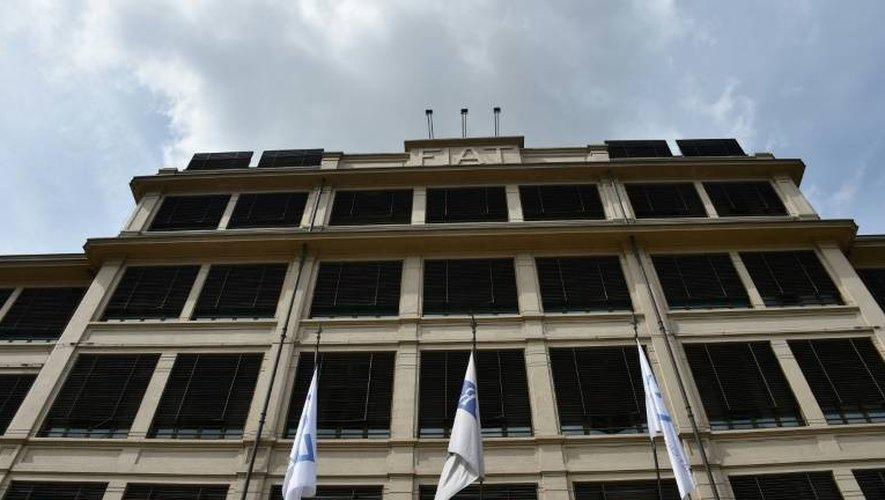 Le siège de Fiat Chrysler Automobiles (FCA) à Turin (Italie), le 19 avril 2015