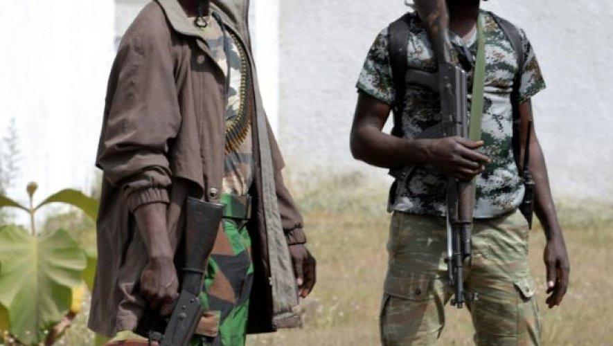 Des soldats mutins, le 7 janvier 2017 devant la résidence du sous-préfet à Bouaké