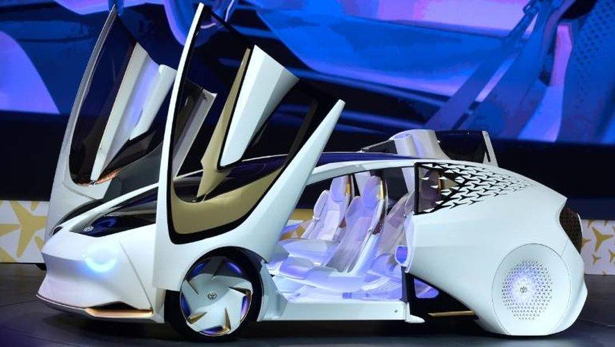 La Toyota Concept-i, exposée au salon d'électronique CES de Las Vegas, le 4 janvier 2017