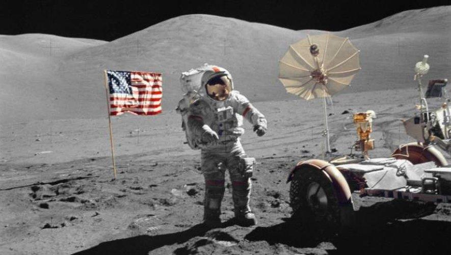 Eugene Cernan, commadant du vaisseau Apollo 17 et dernier astronaute à avoir marché sur la Lune, le 13 décembre 1972, lors de la dernière mission habitée américaine