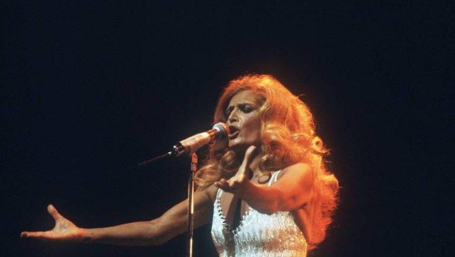 Dalida sur la scène de l'Olympia à Paris le 18 mars 1981