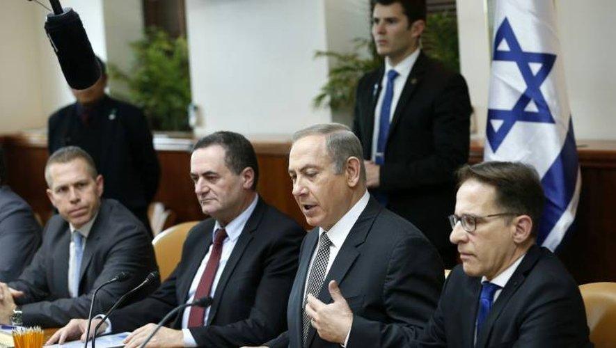 Le Premier ministre israélien Benjamin lors de la réunion de son cabinet le 15 janvier 2017 à Jérusalem