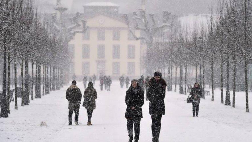 Chute de neige le 8 janvier 2017 à Strasbourg