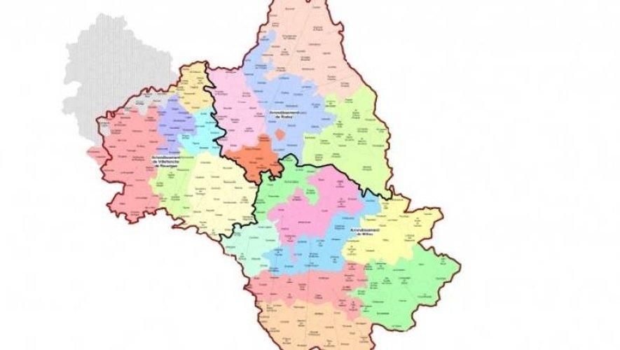De nouvelles frontières pour les trois arrondissements aveyronnais