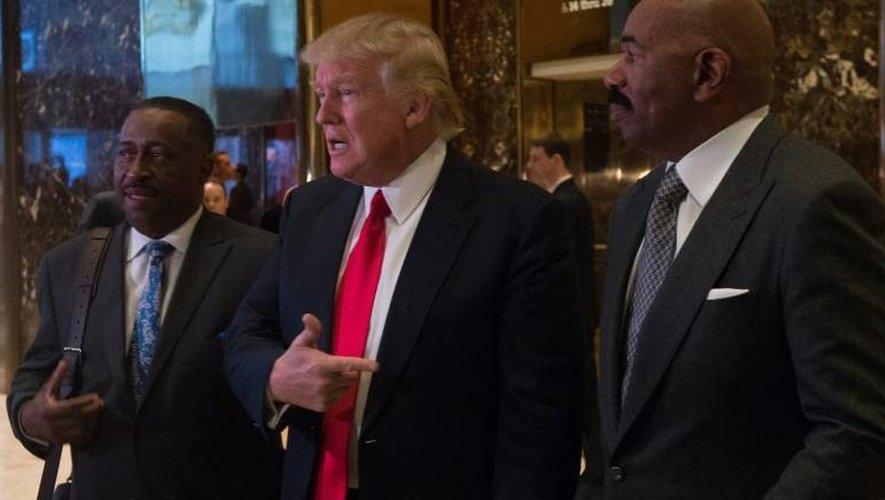 Donald Trump le 13 janvier 2017 Trump Tower à New York