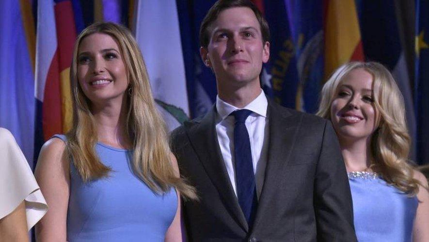 Ivanka Trump, Jared Kushner et Tiffany Trump le 9 novembre 2016 à New York