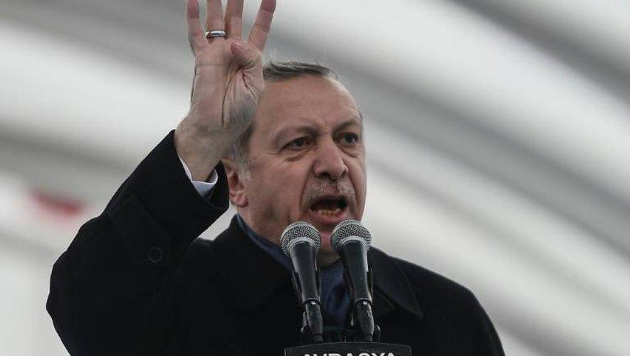 Le président turc Recep Tayyip Erdogan lors d'un discours le 20 décembre 2016 à Istanbul