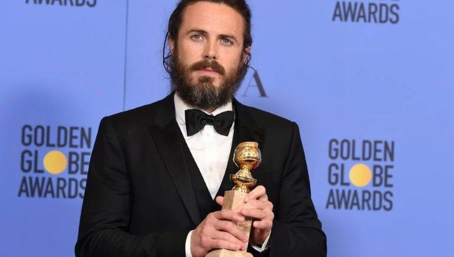 Casey Affleck, Golden Globe du meilleur acteur dramatique, le 8 janvier 2017 à Beverly Hills en Californie