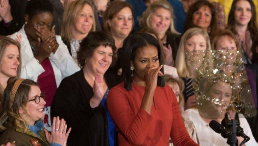 Michelle Obama, le 6 janvier 2017 à la Maison Blanche