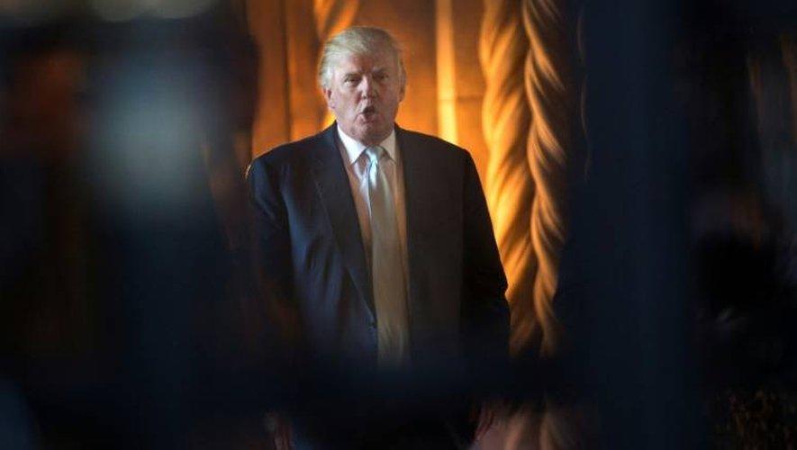 Le président élu Donald Trump à Palm Beach en Floride, au sud-est des Etats-Unis, le 28 décembre 2016