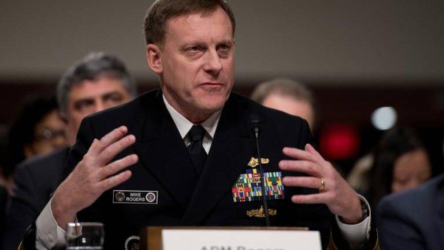 Le directeur de la NSA Michael Rogers devant le Sénat, à Washington le 5 janvier 2017
