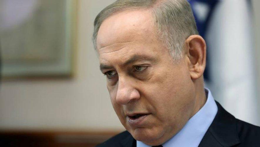 Le Premier ministre israélien Benjamin Netanyahu, le 1er janvier 2017 à Jérusalem