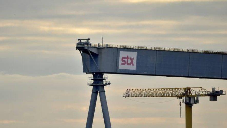Vue du chantier naval STX de Saint-Nazaire (Loire-Atlantique) le 20 octobre 2016