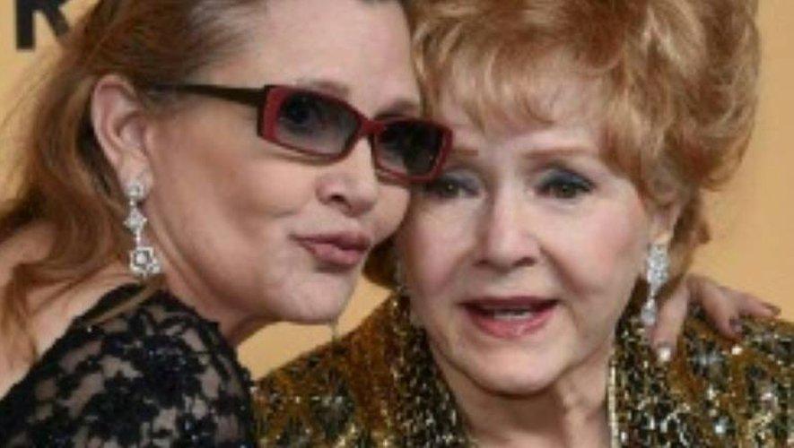 Carrie Fisher et Debbie Reynolds le 24 janvier 2015 à Los Angeles