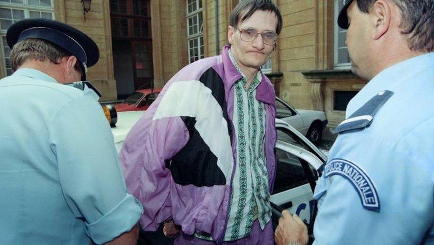 Francis Heaulme (c), le 10 août 1993 à Metz