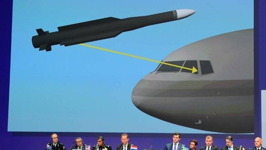 Les investigateurs internationaux présentent leurs conclusions sur le crash du vol MH17 à Nieuwegein, aux Pays-Bas, le 28 septembre 2016