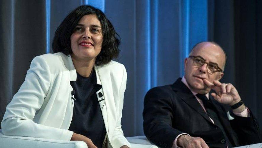 Bernard Cazeneuve et Myriam El Khomri le 12 janvier 2017 à Paris