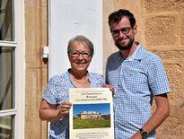 Catherine Cazelles et Thomas Poiraud, coprésidents de l'association Les Cisterciens  en Rouergue.