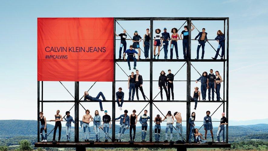 Calvin Klein Jeans réunit 36 mannequins dans sa dernière campagne.