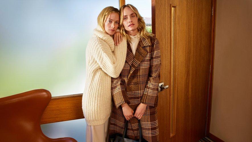 Carolyn Murphy et Amber Valletta prennent la pose pour la collection automne-hiver 2018 de Mango.