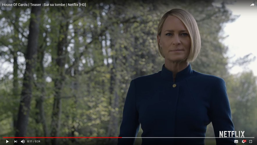 Robin Wright sera la présidente des Etats-Unis dans cette ultime saison qui débutera le 2 novembre sur Netflix.