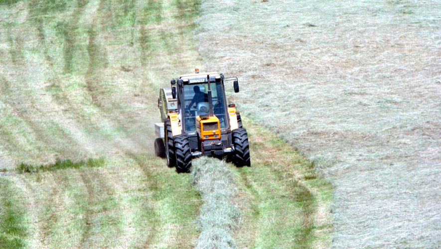 Les agriculteurs se retrouvent, mercredi 21 juillet, devant la DDT à Rodez.