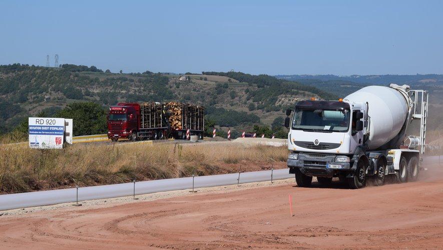 Le chantier du contournement est dans sa dernière ligne droite, ici aux Quatre-Routes.