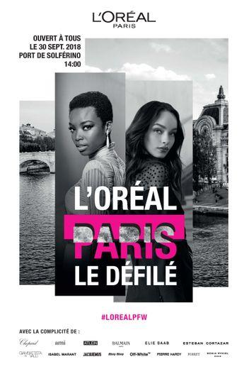 Le Défilé L'Oréal Paris se tiendra au Port de Solférino le 30 septembre prochain.