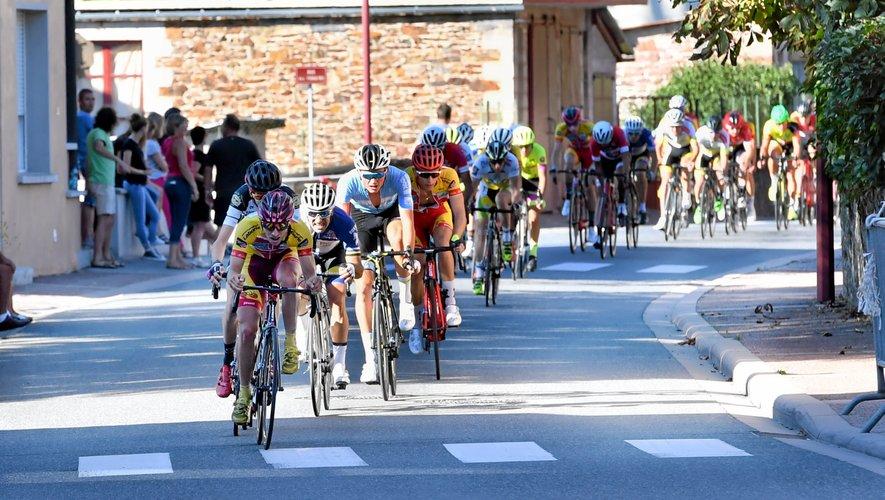 Victor Tourde s'est montré le plus rapide au sprint, hier, à Saint-Cyprien-sur-Dourdou.