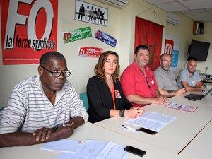 Autour d'Emmanuel Dumas, Yves Iscayes (Millau), Amélie Randeynes (Rodez), Jérôme Nigris (Villefranche) et Philippe Cauffet (Decazeville).