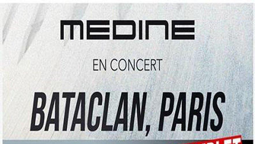 Les concerts de Médine prévus les 19 et 20 octobre au Bataclan sont annulés et reportés au 9 février 2019 au Zénith