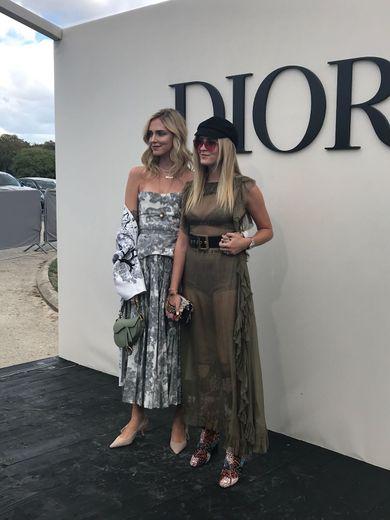 Chiara Ferragni et sa soeur au défilé Dior - Printemps-été 2019 - Paris, le 24 septembre 2018.