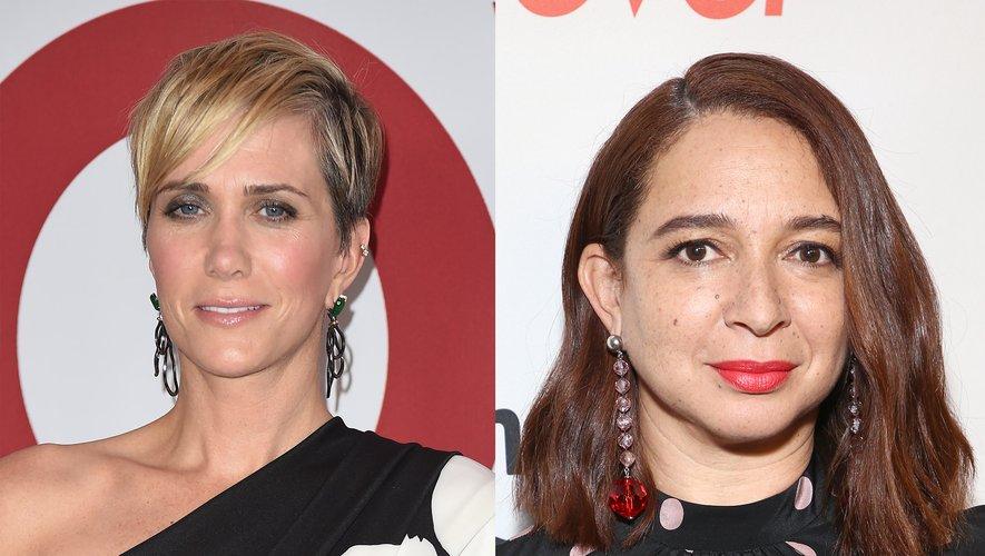 """Kristen Wiig (à gauche) et Maya Rudolph travailleront avec l'équipe de """"The Last Man on Earth"""" sur une comédie d'animation destinée à la Fox"""