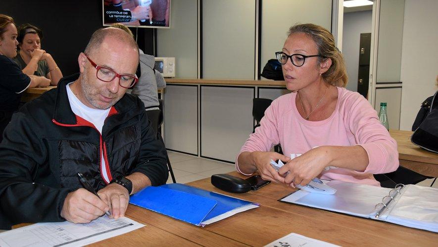 Charlotte Gil (présidente) et Léo Naranjo (secrétaire et trésorier) gèrent les nombreuses licences qui continuent d'arriver.