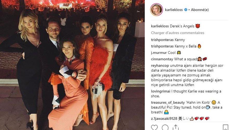 Karlie Kloss, Joan Smalls, Bella Hadid, Kendall Jenner, et Rosie Huntington-Whiteley étaient à la soirée organisée par YouTube à l'Ambassade des Etats-Unis pour fêter la Fashion Week de Paris.