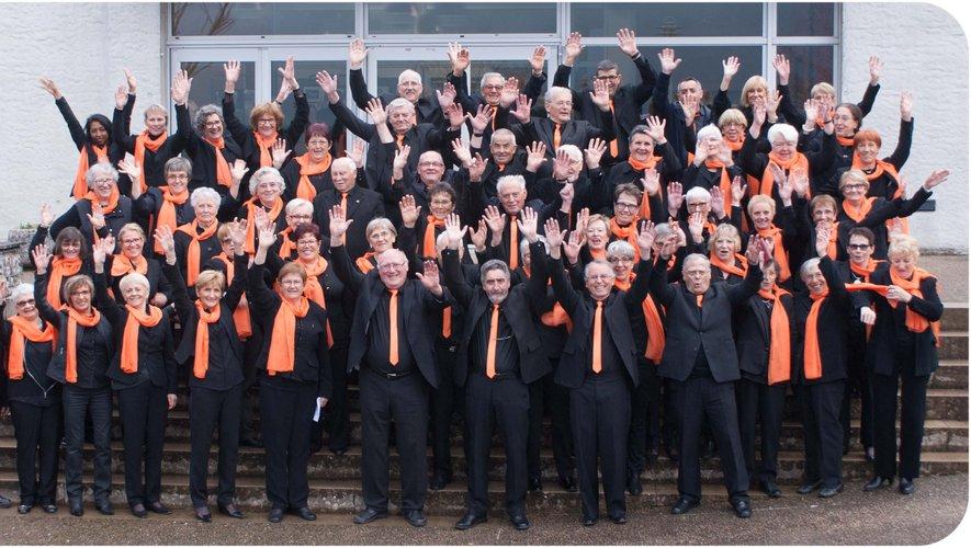 La chorale des Troubadours accueille celle des Balladinssur mesure.