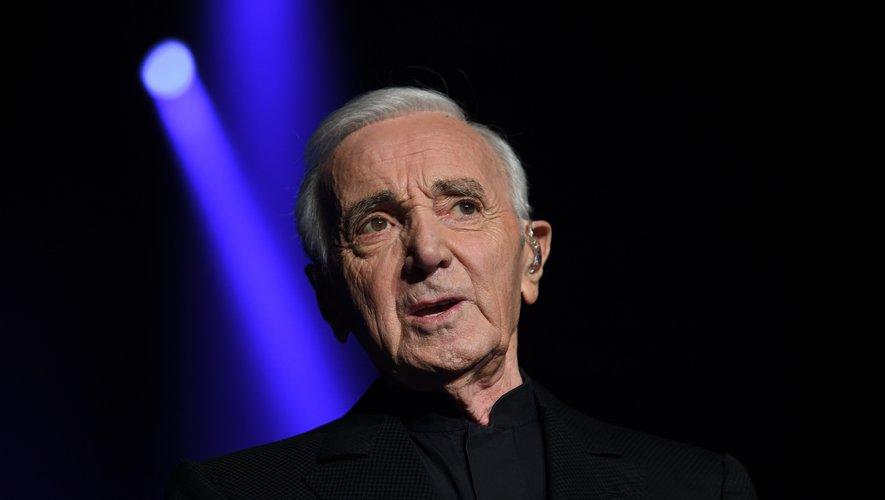 Le chanteur et acteur Charles Aznavour