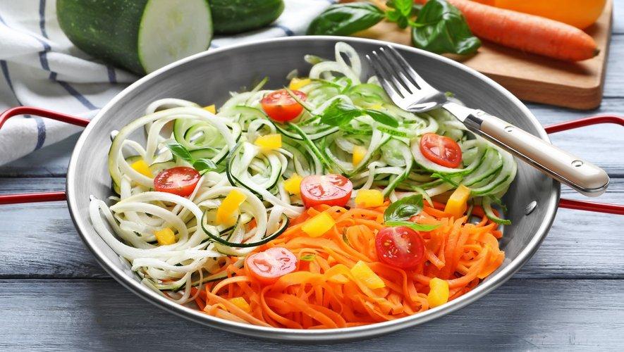 Menus santé : les légumes en forme de pâtes !
