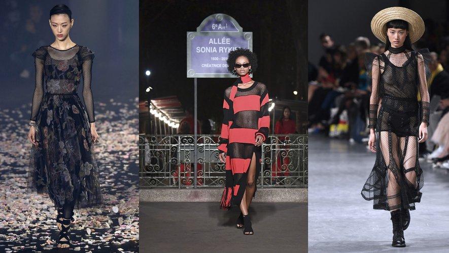 La résille par Christian Dior, Sonia Rykiel, et John Galliano.