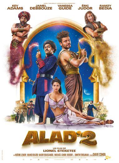 """Kev Adams, Jamel Debbouze, Vanessa Guide, Eric Judor, Ramzy Bedia, Wahid Bouzidi et Noémie Lenoir composent le casting de """"Alad'2"""" de Lionel Steketee."""