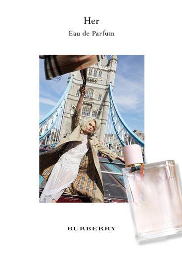 """La campagne de l'eau de parfum """"Her"""" de Burberry avec Cara Delevingne."""