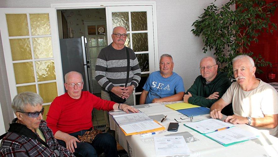 Les fondateurs de l'association dont le siège social est à Decazeville.