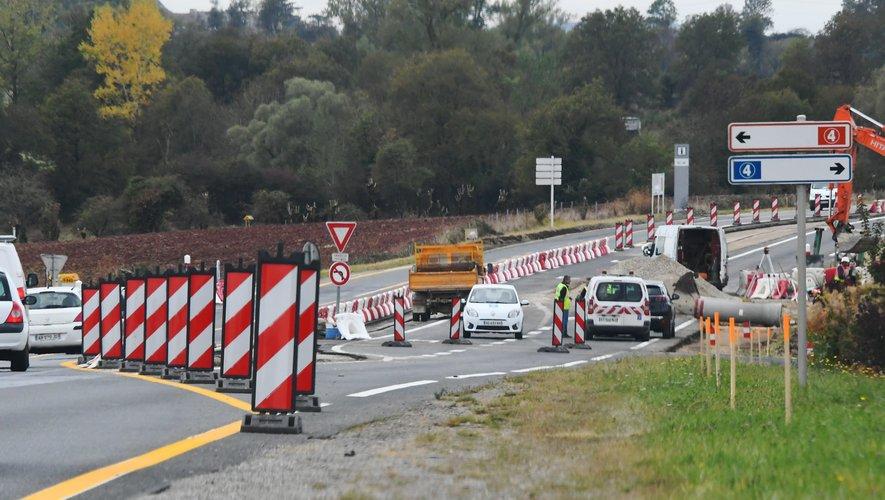 Le giratoire, entre les zones de Bel Air et de Pisserate, devrait être achevé avant la fin de l'année.